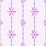 Seamless floral vector pattern. Ornamental background with flowers. Decorative repeating ornament, Series of Floral and Decorative Seamless Pattern Royalty Free Stock Photo