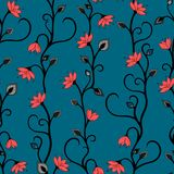 Seamless Floral  vector wallpaper pattern Royalty Free Stock Image
