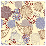 Seamless floral vintage background Stock Image
