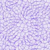 Seamless floral vintage blue doodle pattern Royalty Free Stock Image