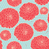 Seamless floral vintage japanese light-blue pattern Stock Image