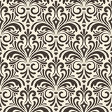 Seamless floral vintage pattern on beige background Stock Photo