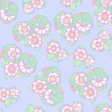 Seamless floral vintage pattern in light, vanilla spring green a Stock Photography