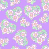Seamless floral vintage pattern in light, vanilla spring green a Stock Photos