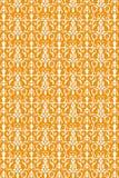 Seamless floral vintage pattern. In orange on white royalty free illustration