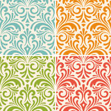 Seamless floral vintage patterns Stock Photo