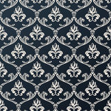 Seamless floral vintage wallpaper background vector black design Royalty Free Stock Image