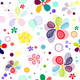 Seamless floral vivid pattern. With deformed flowers Stock Photography