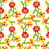 Seamless floral vivid pattern Stock Images