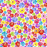 Seamless floral vivid pattern. With colorful flowers (vector Stock Photo