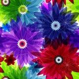 Seamless floral vivid pattern Stock Photo