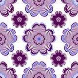 Seamless floral vivid violet pattern Stock Images