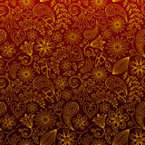 Seamless Floral Wallpaper. Or Background Stock Illustration