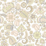 Seamless floral wallpaper. Seamless background with flower ornament Stock Images