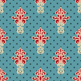 Seamless Floral Wallpaper. Bright seamless floral wallpaper pattern Royalty Free Stock Photos