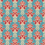 Seamless Floral Wallpaper. Bright seamless floral wallpaper pattern Royalty Free Stock Images