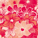Seamless floral wallpaper Royalty Free Stock Photos