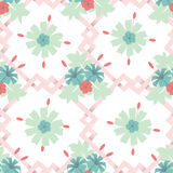Seamless floral wallpaper background Royalty Free Stock Image