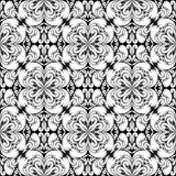 Seamless floral Wallpaper for design - white on black Royalty Free Stock Photos