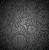 Seamless floral wallpaper with emboss effect Stock Photography