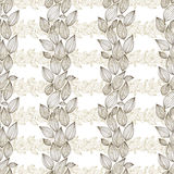 Seamless floral wallpaper, hand drawn, vector. Stock Photo