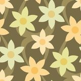 Seamless Floral Wallpaper Patt. You can use this repeating pattern to fill your own custom shapes and backgrounds Stock Photo