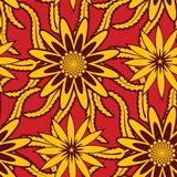Seamless Floral Wallpaper Patt. You can use this repeating pattern to fill your own custom shapes and backgrounds Royalty Free Stock Images