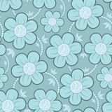 Seamless Floral Wallpaper Pattern. Seamless Wallpaper Tile - This pattern repeats on all sides. You can use it to fill your own custom shapes and backgrounds Royalty Free Stock Photo