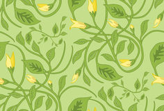 Seamless Floral Wallpaper Pattern. Seamless Wallpaper Tile - This pattern repeats on all sides. You can use it to fill your own custom shapes and backgrounds Royalty Free Stock Image