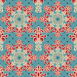 Seamless Floral Wallpaper Pattern. Venecian colors Stock Image