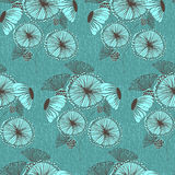 Seamless floral wallpaper pattern Stock Photos