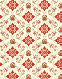 Seamless floral wallpaper pattern Royalty Free Stock Photography