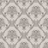 Seamless floral Wallpaper in Retro Style Stock Photo