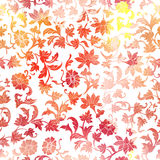 Seamless Floral Watercolor  Pattern Background. Stock Image