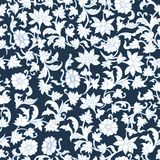 Seamless Floral Watercolor  Pattern Background. Royalty Free Stock Photo