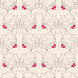 Seamless floral weaving pattern. Gentle background without transparency. Stock Image