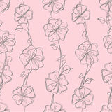 Seamless floral white  background Stock Images
