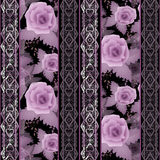 Seamless floral white lace pattern with roses flowers background Royalty Free Stock Photos
