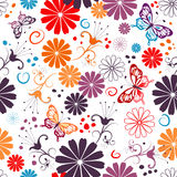 Seamless floral white pattern Stock Images