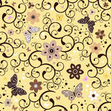 Seamless floral yellow pattern Royalty Free Stock Photo