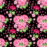 Seamless floral zhostovo pattern Stock Images