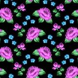 Seamless floral zhostovo pattern Stock Image