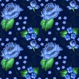 Seamless floral zhostovo pattern Stock Photos