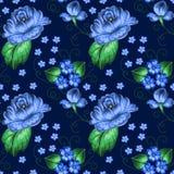 Seamless floral zhostovo pattern Stock Photos