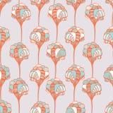 Seamless flourish pattern. Abstract vertical royalty free illustration