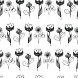 Seamless flourish pattern. Abstract vertical white and black royalty free illustration