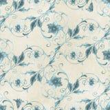 Seamless Flourish Pattern. On parchment background Royalty Free Stock Photos