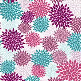 Seamless Flower. Vector seamless wallpaper and background of fancy flowers vector illustration