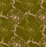 Seamless flower background vector illustration