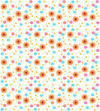 Seamless flower background stock illustration